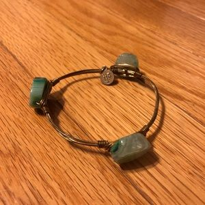 Bourbon and Bowties Bracelet (Green Gems)